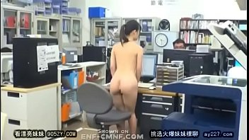 Completely naked in Japanese girl working completely naked and getting harassed at offices