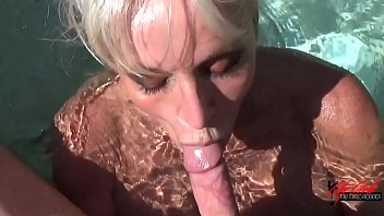 POV HOT TUB blowjob by Sally D'angelo