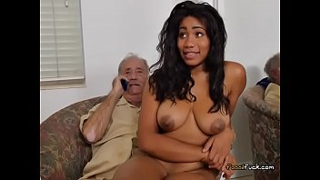 Ebony Teen Tara Foxx Lets Old Guy Doggystyle Her