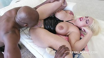 Tattooed whore Candela X gets rough anal Interracial Balls deep Fucking