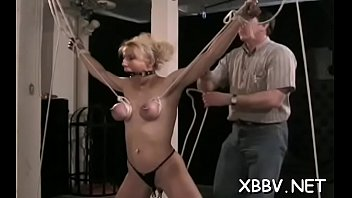 Woman plays by man's rules in sadomasochism xxx non-professional show