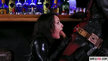 Crazy blowjob in the bar - Jennifer White and Seth Gamble in Deadpool XXX - An Axel Braun Parody Scene 2