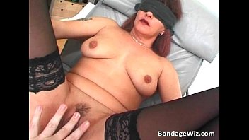 Blindfolded mature slut fucked hardly