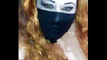 Face mask covered mouth black dildoo
