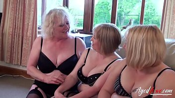 AgedLovE Three Mature Ladies Occupying One Cock 8 min