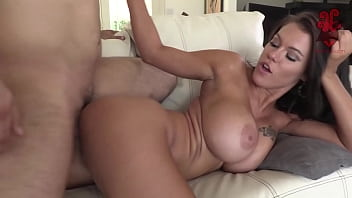Lucky nerd dude after good mission gets to enjoy the huhe tits of Peta Jensen and tastes her juicy pussy