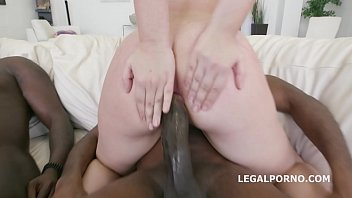 Barely legal 18-year-old Selvaggia DAP'ed to the extreme by 3 black dicks