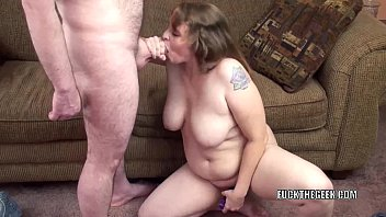 Oral sex with mom - Plump milf alexsis sweet is going down on a lucky geek
