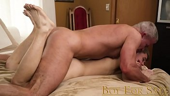 Barely legal gay homemade Boyforsale - young slave boy sold to daddy dom for bareback breeding