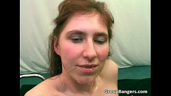 Awesome group sex scene with two horny