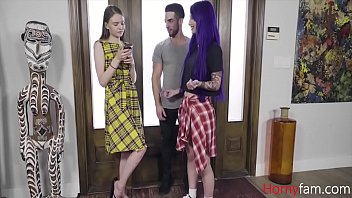 Brother And Sister Help Cousin With Phone Addiction- Jessae Rosae And Val Steele