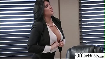 Slut Girl (Romi Rain) With Round Huge Tits Get Nailed In Office vid-25