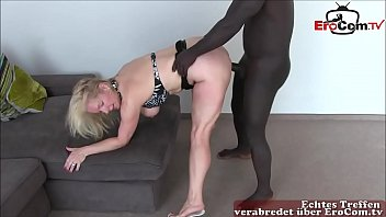 hot german amateur milf make creampie at userdate with lot of cum inside