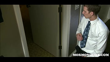 Blonde Mormon Twink Masturbates To Church Brother Beating Off In Shower