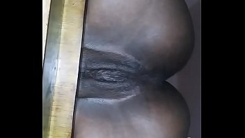 Pretty Ebony Pussy Sitting Nice On A Chair Then Fuck And Creampie Her