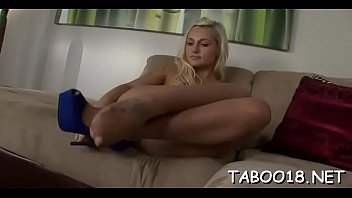 Women pantyhose dong - Sweet legal age teenager drops her pantyhose and handjobs stiff dong