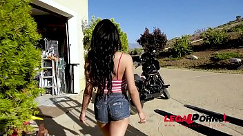 Extra hot Latina babe Maya Bijou rides mechanic's veiny dick in garage GP804