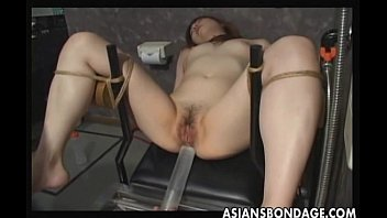 Japanese slave gets pussy filled by cum ▶