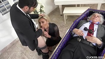 Nude pics of topher grace - Grieving blonde widow blows and fucks stiff dick next to cuckolded husband