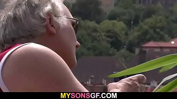 She lets her BF's dad poke her wet hole