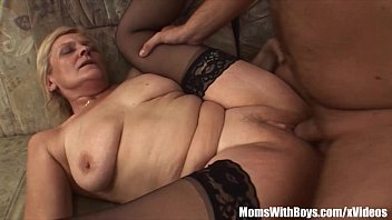 Old Shaved Cunt In Sexy Laced Stockings