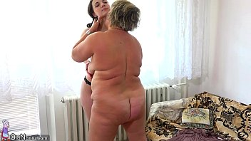Teen lesbians and strapon Oldnanny old fat mom is playing with teen and sextoy strapon sex