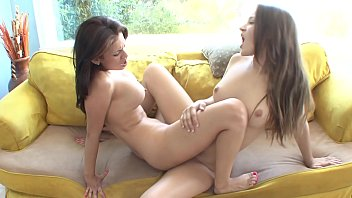 Hot lesbian beauties Dani Daniels and Vanessa Veracruz copulate in bed after shopping spree