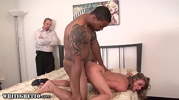 WhiteGhetto Fucked Hard By BBC While Cuckold Husband's Watching