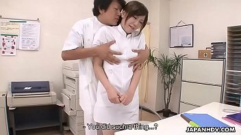 The naked nurse - Japanese nurse is punished by being roughly fucked and creampied
