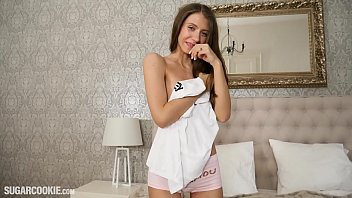 Petite Teen Stefanie Moon plays with herself preview image
