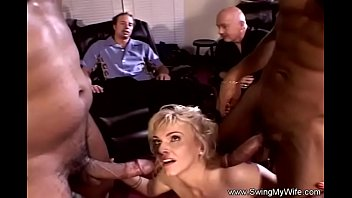Interracial Threesome For Swinger Wife