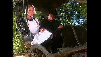 Amish and his charming golden-haired wife with big tits Nina Ferrari went to nearest town to make arrangement with blacksmith