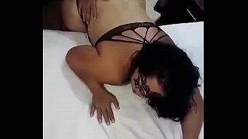 Slutty ebony girlfriend fucks me in her bed and lets me cum inside her pussy