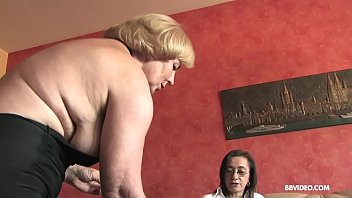 Lesbian German grannies fuck anal with strapon and dildo