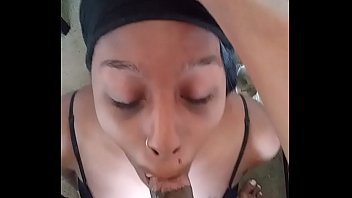 Ebony sucking BBC