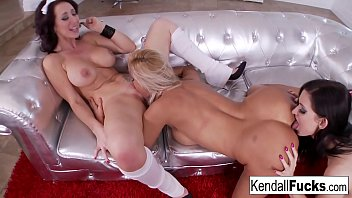 Kendall, Jayden and Sandy as they lick and fuck each others wet holes