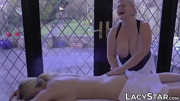 Kinky British Granny Massages A Hot Girl And Licks Her Pussy