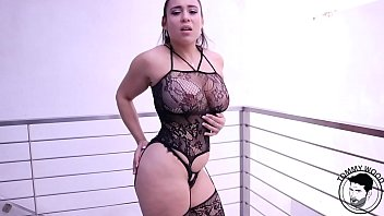 BIG ass latin pornstar in sexy lingerie taking twerking and taking big cock with facial Carmela Clutch