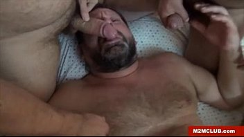 Mature bear gay sex - Slut bear gang-banged
