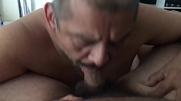 Milking and eating cum