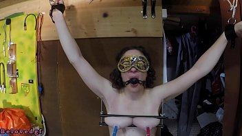 trailer - breast press and pussy weight torture