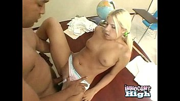 cute blonde schoolgirl gets her sweet pussy screwed by her professor