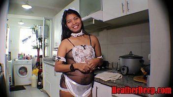 https:\/\/onlyfans.com\/heatherdeep HEATHERDEEP.COM 19 week pregnant thai teen heather deep in maid outfits gives deepthroat and creamthroat in the kitchen