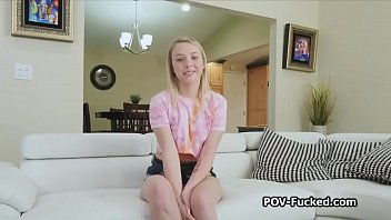 Fucking super cute freckled blonde teen on private audition