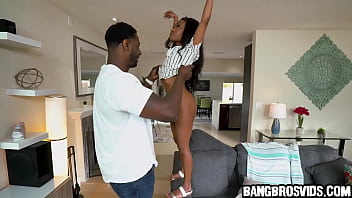 She gets fucked by a monster black cock