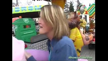 Girl fucked at public fair very sexy