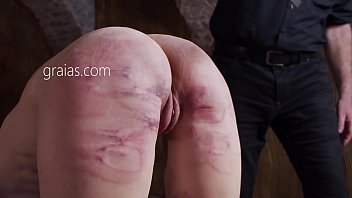 Brutal ass spanking with cane