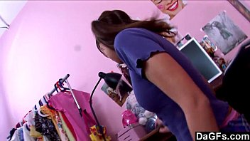 Schoolgirl playing with herself after school