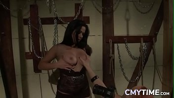 Lesbian Domina Playing With Her Slave Gal