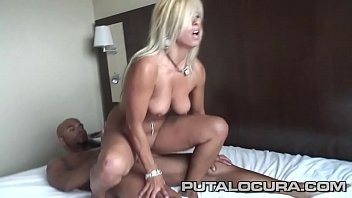 A spectacular couple doing porn for the first time. What a tremendous blonde!